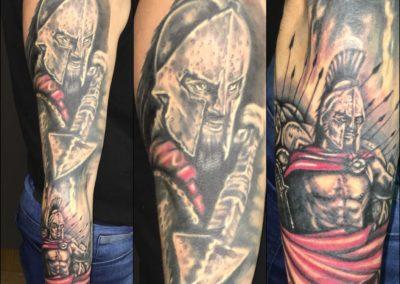 Tetování na ruku Leonidas